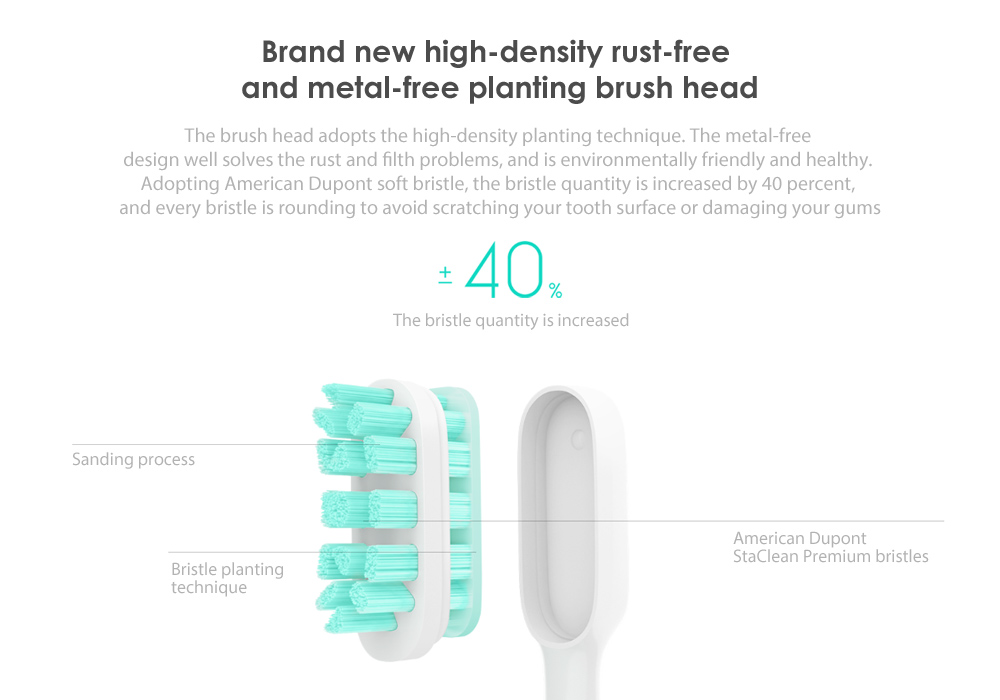 Xiaomi Mijia Sonic Smart Electric toothbrush high efficiency magnetic acoustic motor 31000 quiver per minute IPX7 waterproof 3