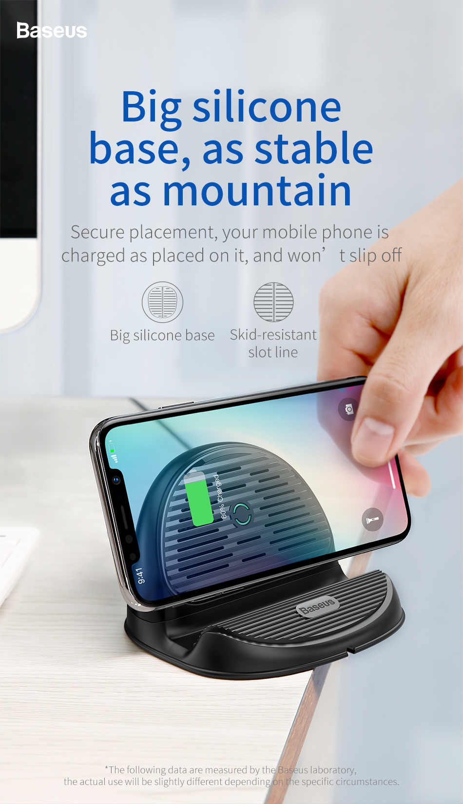 Baseus Desktop QI Wireless Charger 10W Radiating Fan Wireless Fast charging charger for iPhone X 8 Samsung S9 OnePlus 6 Xiaomi 1